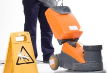 Machine cleaning of hard surfaces